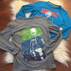 Other - Set of 2 long sleeve football tees